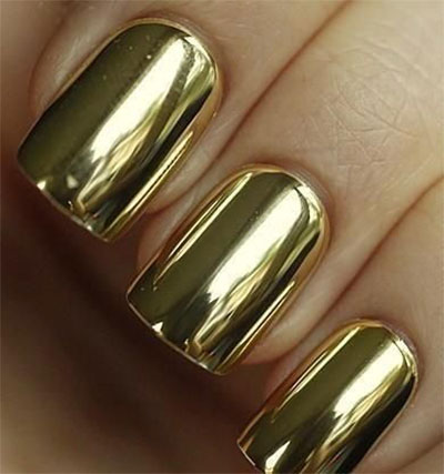 18-Gold-Metallic-Chrome-Nails-Art-Designs-Ideas-2017-8