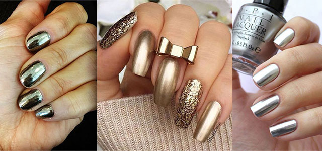 18 Gold Silver Chrome Nails Art Designs Ideas 2017 Fabulous
