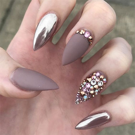 20 Metallic Gold Chrome Nails Art Designs Amp Ideas 2017 Fabulous Nail Art Designs