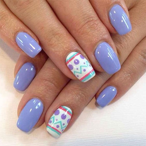 20-Simple-Easy-Easter-Nails-Art-Designs-Ideas- - 20+ Simple & Easy Easter Nails Art Designs & Ideas 2017 Fabulous