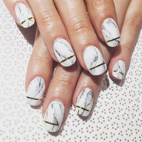 20+ White Marble Nails Art Designs & Ideas 2017 | Fabulous Nail Art ...