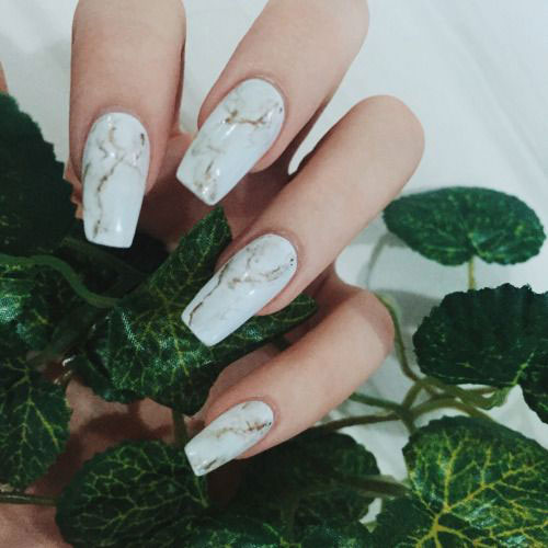 20+ White Marble Nails Art Designs & Ideas 2017 | Fabulous ...