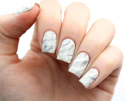 20 White Marble Nails Art Designs Ideas 2017 7 Fabulous Nail Art