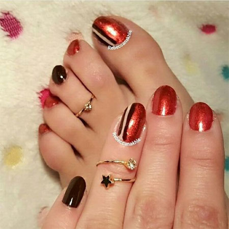 Chrome-Toe-Nails-Art-Designs-Ideas-2017-2