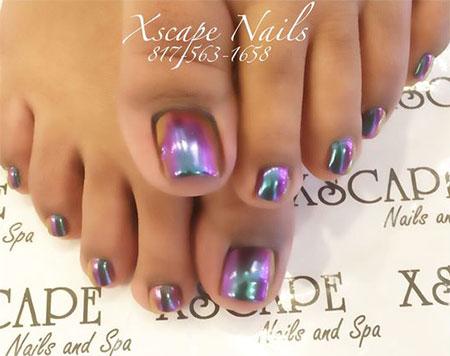 Chrome-Toe-Nails-Art-Designs-Ideas-2017-4