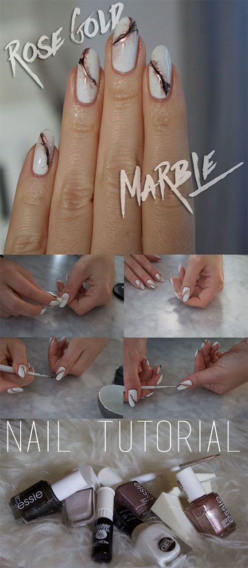 Easy-Step-By-Step-Marble-Nails-Art-Tutorials-For-Beginners-2017-5