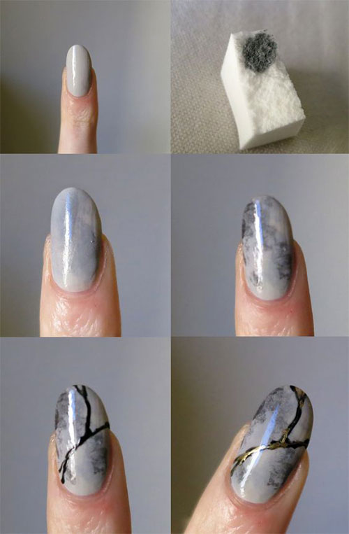Easy-Step-By-Step-Marble-Nails-Art-Tutorials-For-Beginners-2017-6