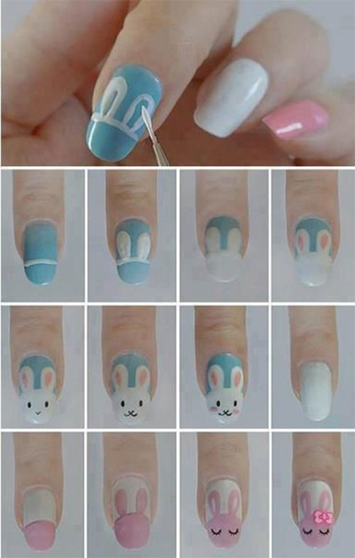 12-Easter-Nail-Art-Tutorials-For-Beginners-Learners-2017-4