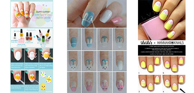 12 Easter Nail Art Tutorials For Beginners & Learners 2017