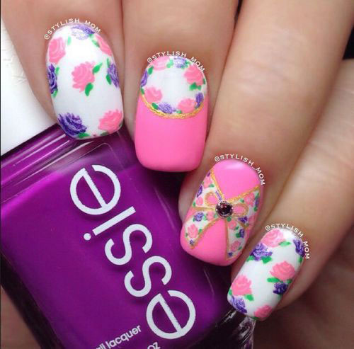 15-Pink-Floral-Nail-Art-Designs-Ideas-2017-Spring-Nails-1