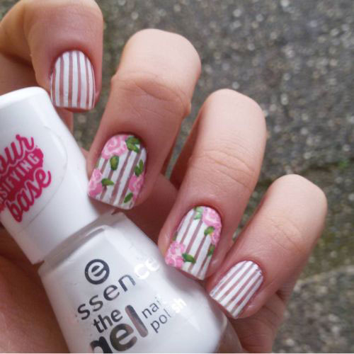 15-Pink-Floral-Nail-Art-Designs-Ideas-2017- - 15+ Pink Floral Nail Art Designs & Ideas 2017 Spring Nails