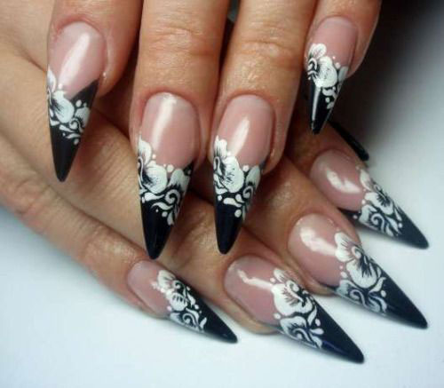 15-Spring-Black-Floral-Nails-Art-Designs-Ideas-2017-1