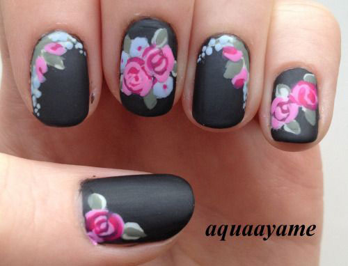 15-Spring-Black-Floral-Nails-Art-Designs-Ideas-2017-10