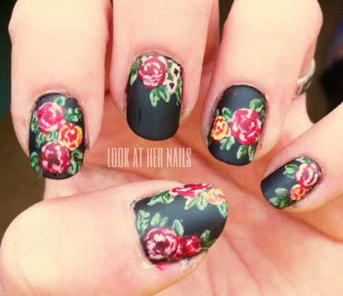 15-Spring-Black-Floral-Nails-Art-Designs-Ideas-2017-11