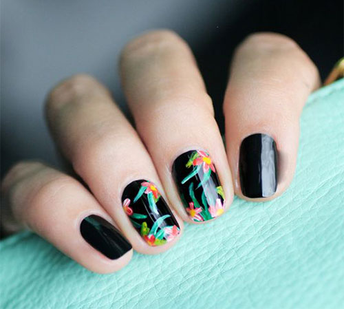 15-Spring-Black-Floral-Nails-Art-Designs-Ideas-2017-16