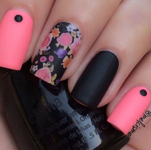 15-Spring-Black-Floral-Nails-Art-Designs-Ideas-2017-5