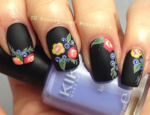 15-Spring-Black-Floral-Nails-Art-Designs-Ideas-2017-6