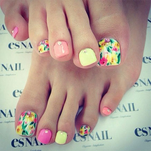 Toe Nail Design Ideas 2017 : Spring toe nails art designs ideas fabulous nail