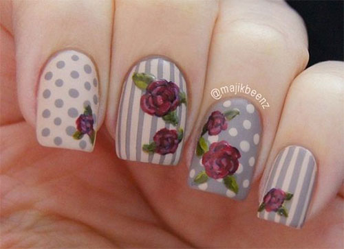 15-Vintage-Floral-Nail-Art-Designs-Ideas-2017-Spring-Nails-11