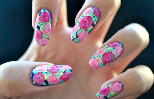 15-Vintage-Floral-Nail-Art-Designs-Ideas-2017-Spring-Nails-13