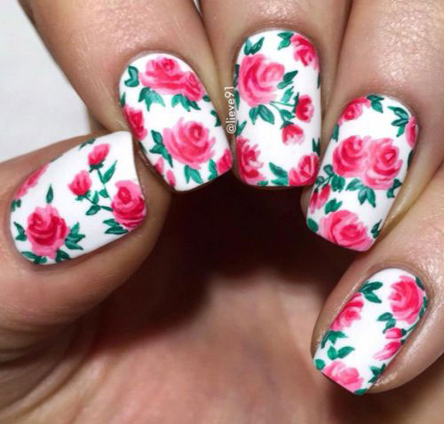 15-Vintage-Floral-Nail-Art-Designs-Ideas-2017-Spring-Nails-14
