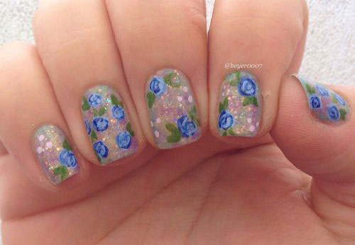 15-Vintage-Floral-Nail-Art-Designs-Ideas-2017-Spring-Nails-15