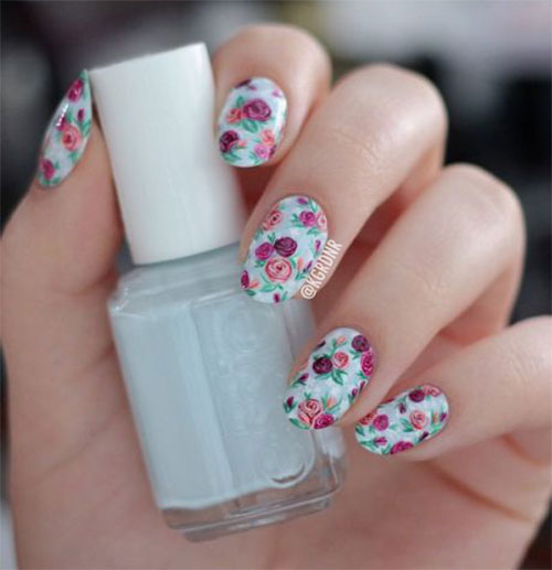 15-Vintage-Floral-Nail-Art-Designs-Ideas-2017-Spring-Nails-3