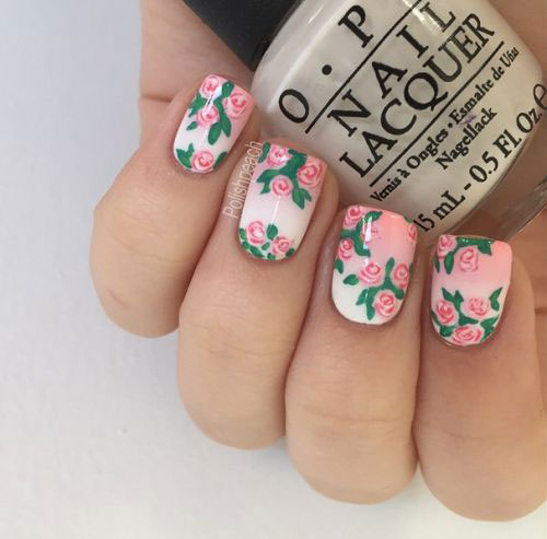15 vintage floral nail art designs ideas 2017 spring nails 15 vintage  floral nail art designs - Vintage Nail Art Designs Gallery - Nail Art And Nail Design Ideas