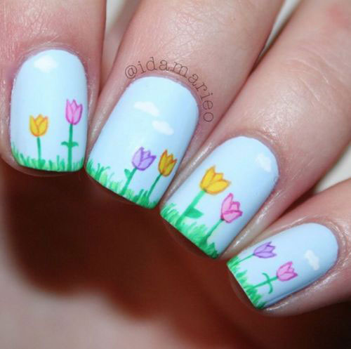 20 simple amp easy spring nails art designs amp ideas 2017