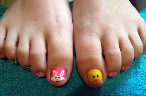 Easter-Toe-Nail-Art-Designs-Ideas-2017-3 - Easter Toe Nail Art Designs & Ideas 2017 Fabulous Nail Art Designs