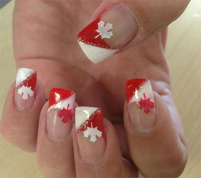 10-Canada-Flag-Nails-Art-Designs-Ideas-2017-10