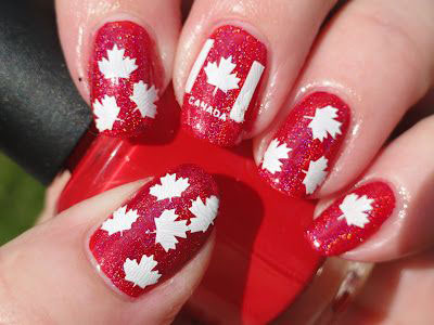 10-Canada-Flag-Nails-Art-Designs-Ideas-2017-3
