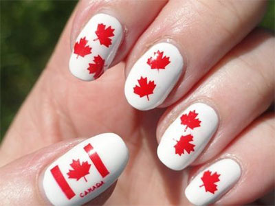10-Canada-Flag-Nails-Art-Designs-Ideas-2017-5