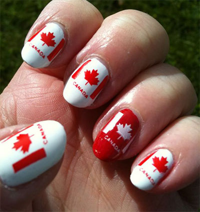 10-Canada-Flag-Nails-Art-Designs-Ideas-2017-6