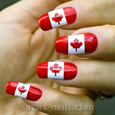 10-Canada-Flag-Nails-Art-Designs-Ideas-2017-7
