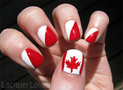 10 Canada Flag Nails Art Designs Amp Ideas 2017 Fabulous Nail Art Designs