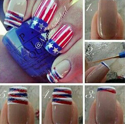 10-Easy-Step-By-Step-4th-of-July-Nails-Tutorials-For-Beginners-2017-2