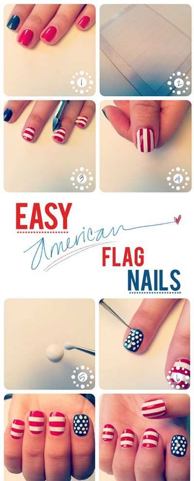 10-Easy-Step-By-Step-4th-of-July-Nails-Tutorials-For-Beginners-2017-7
