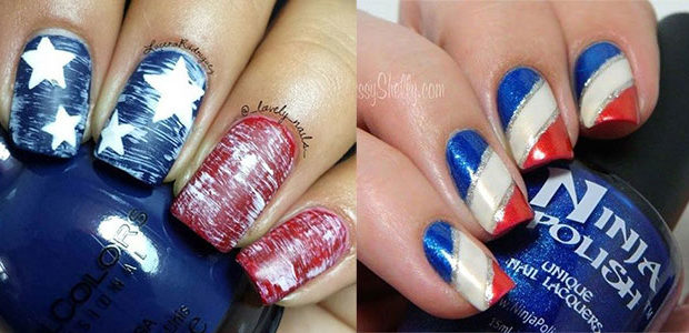 12+ Awesome 4th of July Acrylic Nail Art Designs & Ideas 2017