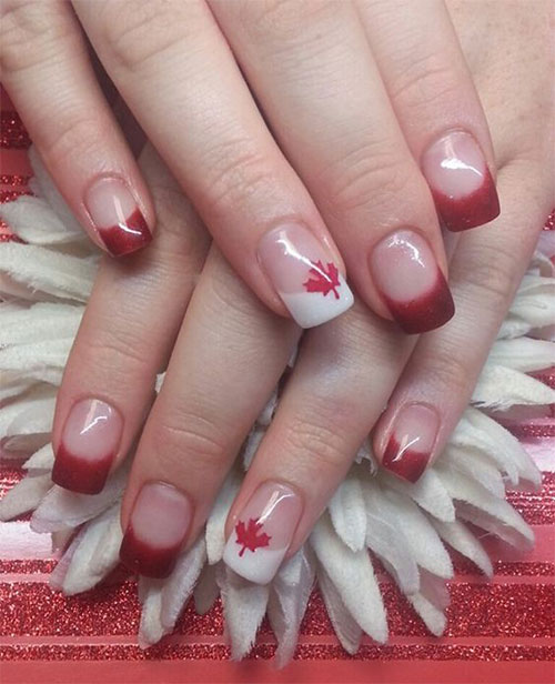 12-Easy-Canada-Day-Nails-Art-Designs-Ideas-2017-1