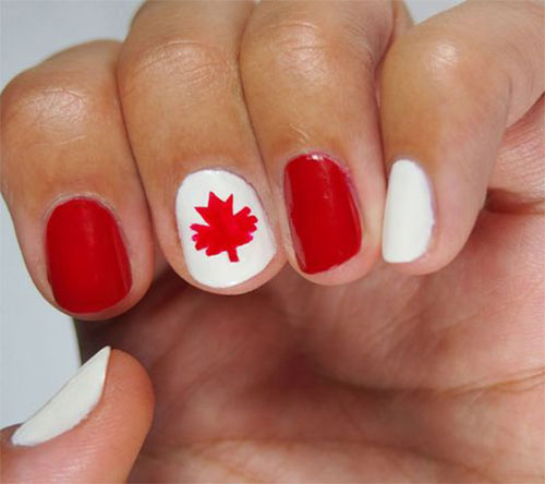 12-Easy-Canada-Day-Nails-Art-Designs-Ideas-2017-10