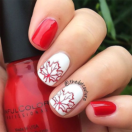 12-Easy-Canada-Day-Nails-Art-Designs-Ideas-2017-2