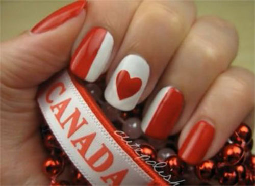 12-Easy-Canada-Day-Nails-Art-Designs-Ideas-2017-4
