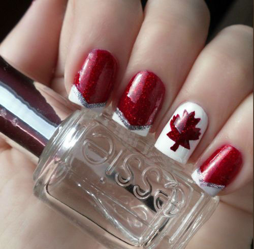 12-Easy-Canada-Day-Nails-Art-Designs-Ideas-2017-5