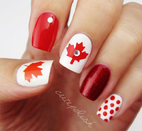 12-Easy-Canada-Day-Nails-Art-Designs-Ideas-2017-7