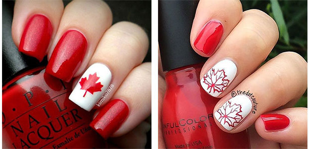 12+ Easy Canada Day Nails Art Designs & Ideas 2017