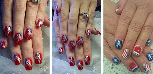 15 Amazing 4th of July Fireworks Nail Art Designs & Ideas 2017