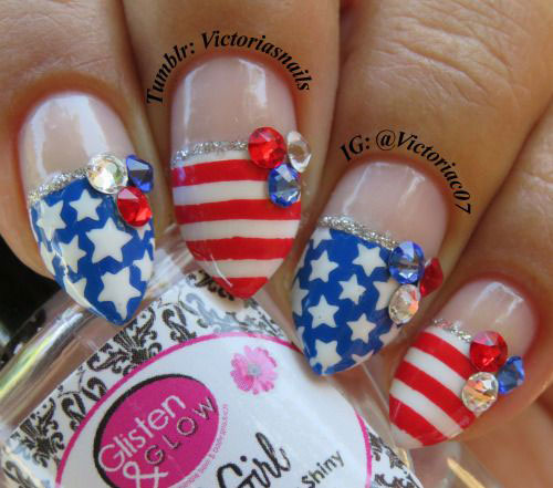 15-American-Flag-Nail-Art-Designs-Ideas-2017-4th-of-July-Nails-1