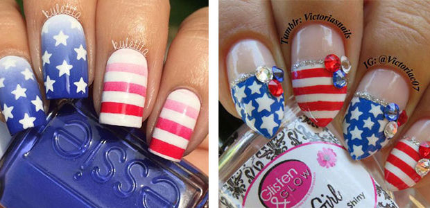 15+ American Flag Nail Art Designs & Ideas 2017 | 4th of July Nails