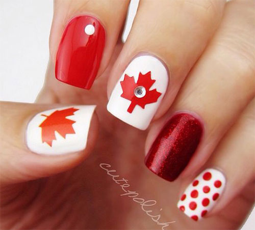 15-Canada-Day-Nails-Art-Designs-Ideas-2017-14